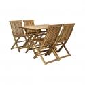Aiamööbli komplekt FINLAY laud ja 4 tooli