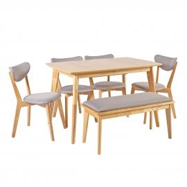 Söögilauakomplekt JONNA 4-tooli ja pink